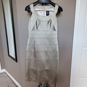 NWT Jax bodycon dress in a stone color, Size 14